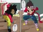 SSJ4 Goku and Vegeta