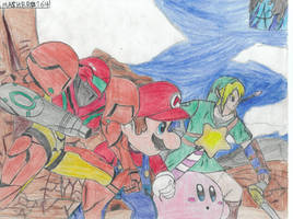 The 4 Heroes by SMASHBRO164