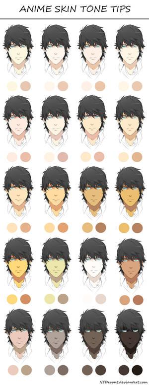 anime skin tone tips