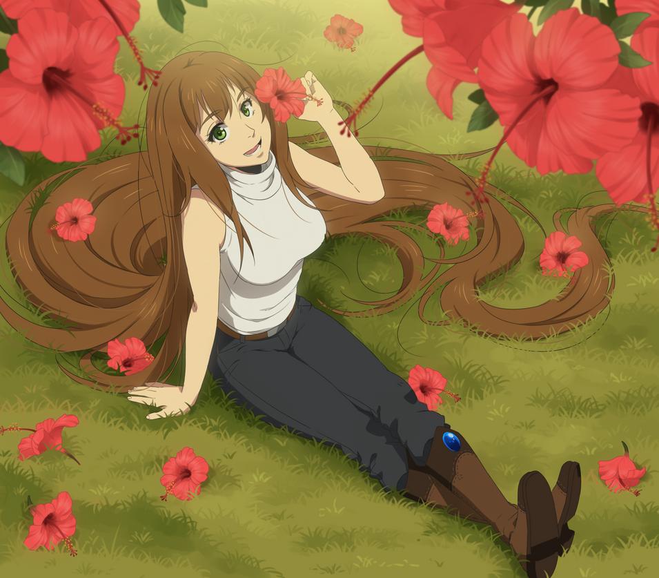 Oh hey, pretty flower! by danzzila
