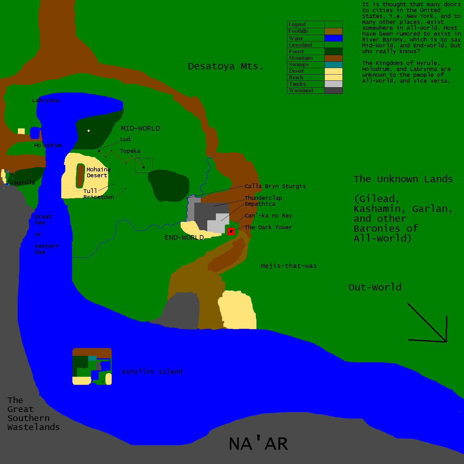 Map Of Mid World And Hyrule By Cougardravenx4 On Deviantart