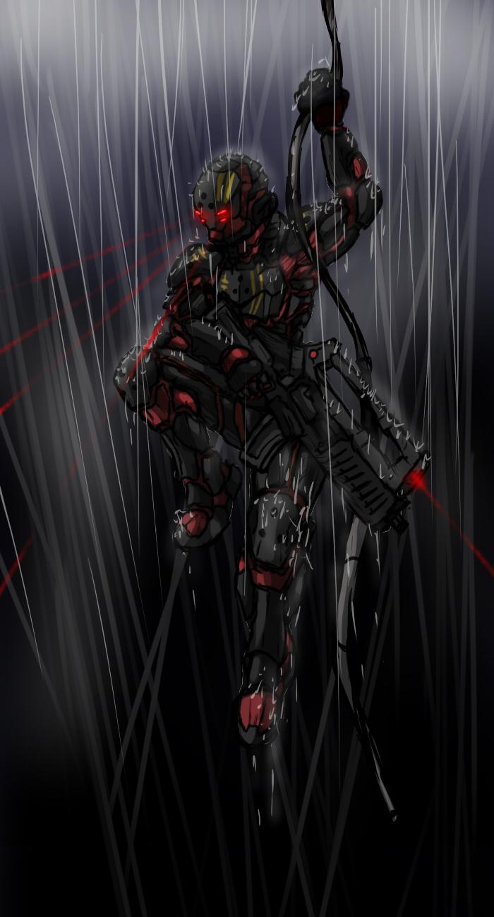 Bloodforge Marine Spec Ops by RailgunTogepi