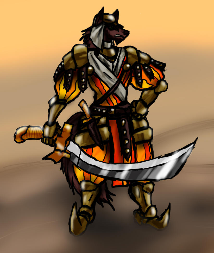 Wolf Anthro Warrior Wolf Warrior by Railguntogepi