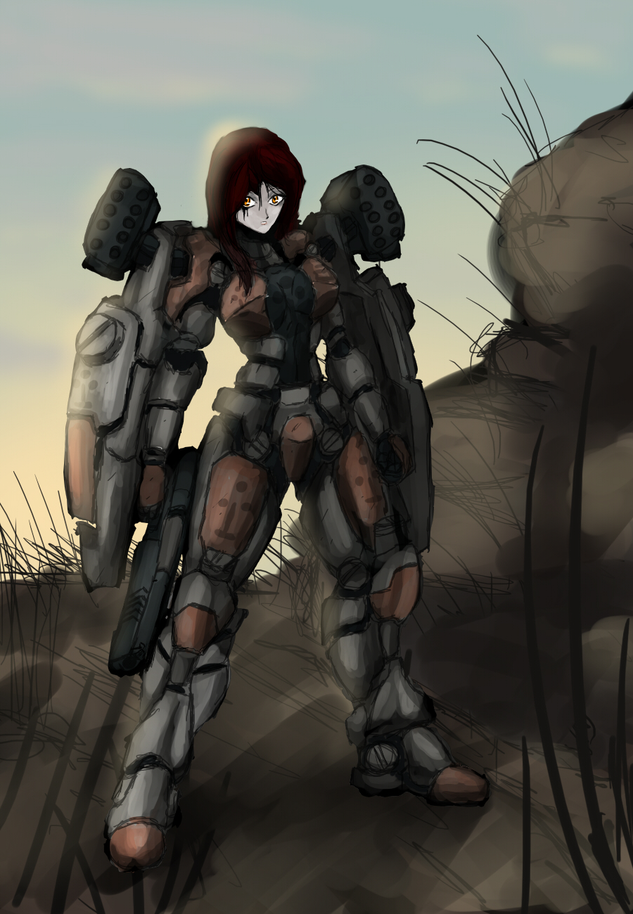 Heavy Mech girl by RailgunTogepi