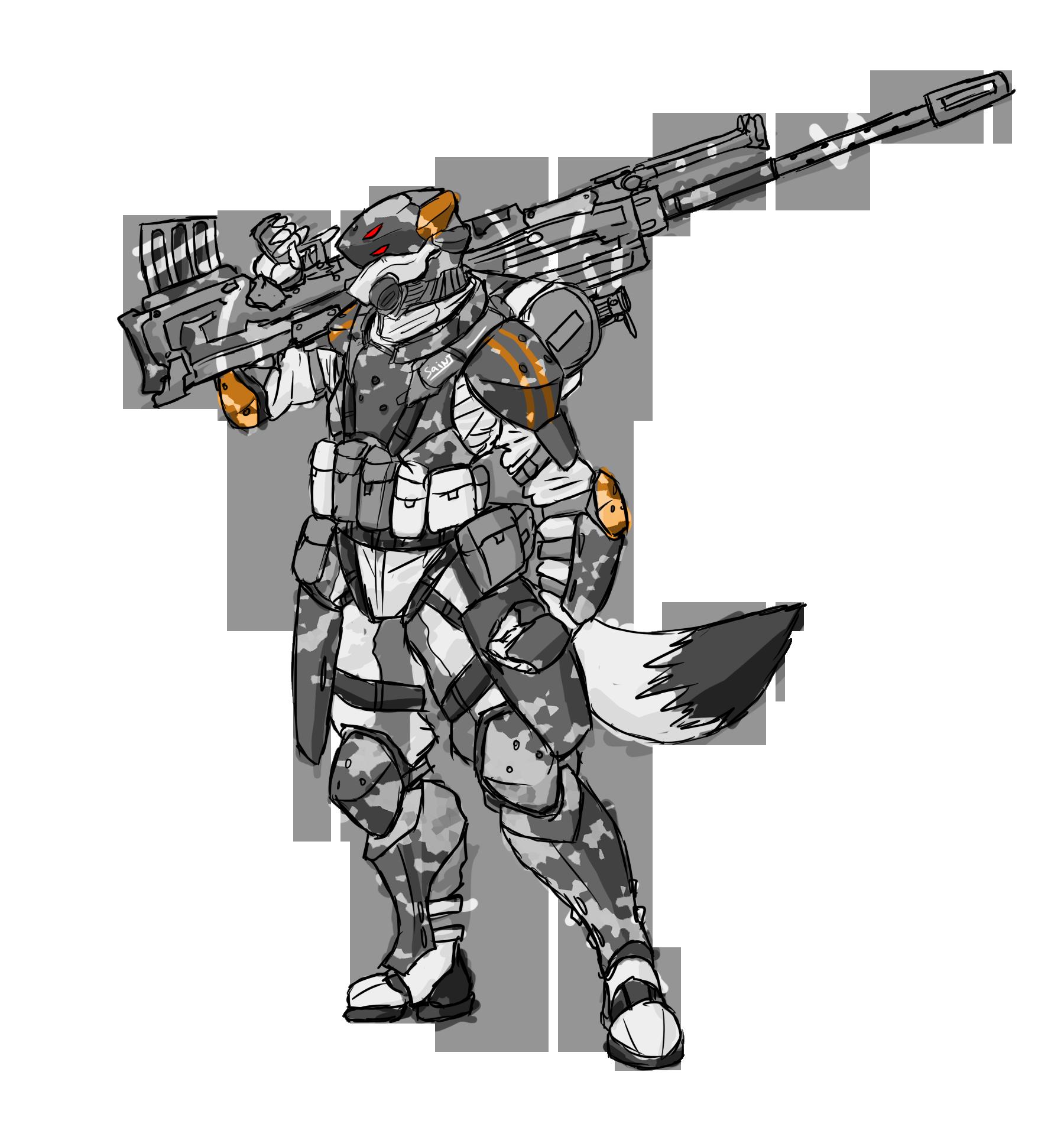 Saint Versa  White death Armor by RailgunTogepi