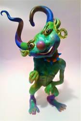 Whimsical Goblin Sculpture