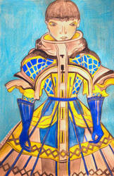 Fashion Illustration:Alien Doll. MAISON MARGIELA