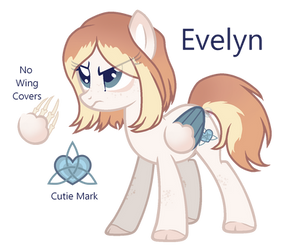 Evelyn Redesign (ponysona) by Points-for-Fritty
