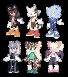 Sonic oc Adopts (2/6 open)