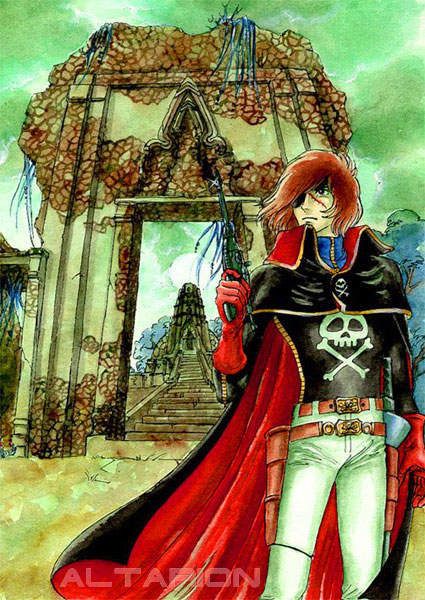 Captain Harlock by whiteshaix