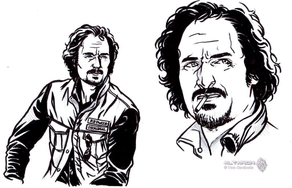 Sons of Anarchy quick sketch: Tig by whiteshaix on DeviantArt