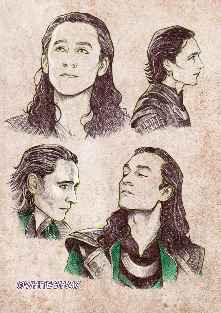 Loki sketches 01 by whiteshaix