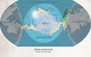 Tidally locked Earth map by Vanga-Vangog