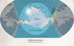 Tidally locked Earth map
