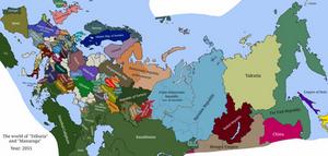 The world of tellurium (Telluria and Manaraga)