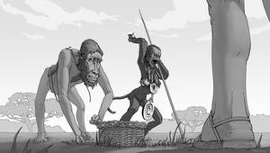 Commission - Baboon sub-men (Last and First Men)