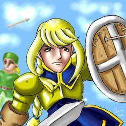 Agrias with Background Thief
