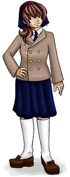 Sofi in school uniform