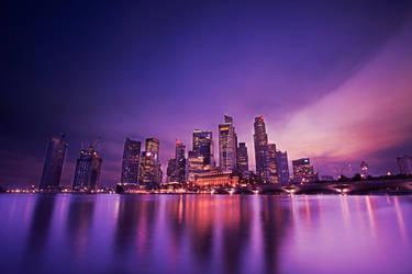 Singapore skyline by JJLuoz