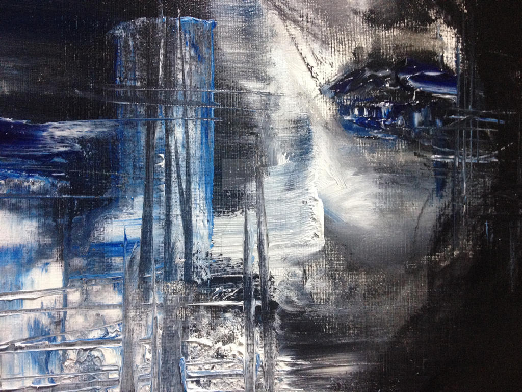 Lips / Blue desert / oil painting by kvila