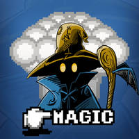 Black Mage Magic Shirt by Blamrob