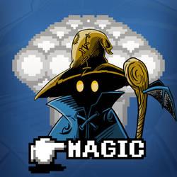 Black Mage Magic Shirt by Blamrob