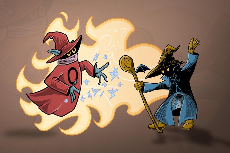 Orko vs Vivi by Blamrob