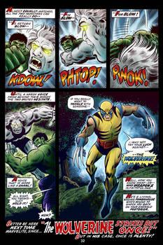 Hulk #180 Wolverine Page Color