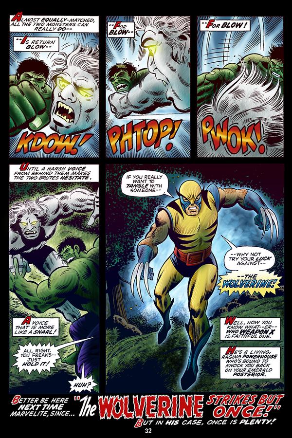 Hulk #180 Wolverine Page Color by Blamrob