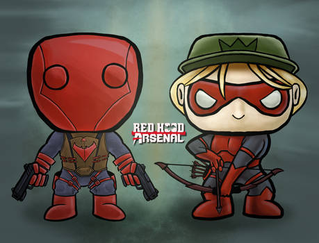 Red Hood and Arsenal Funko POP Concepts (iPad Pro)