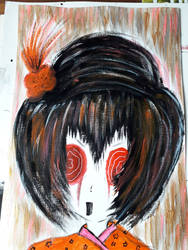 Ecruteak City Kimono Girl Orange