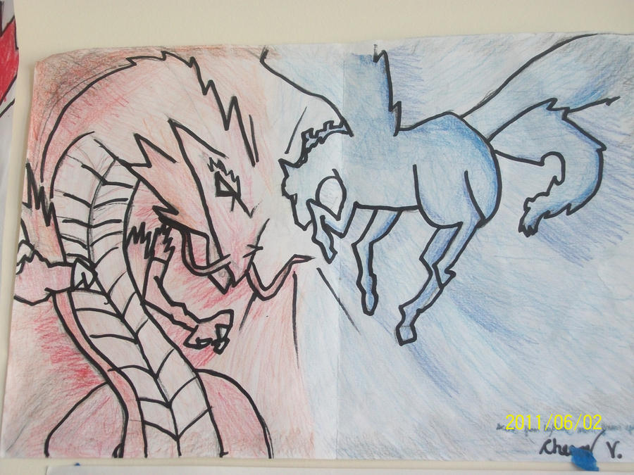 Meteo Ldrago vs Galaxy Pegasus by BladerGirl101 on DeviantArt