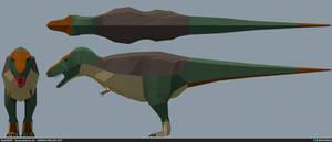 Tyrannosaurus rex lowpoly
