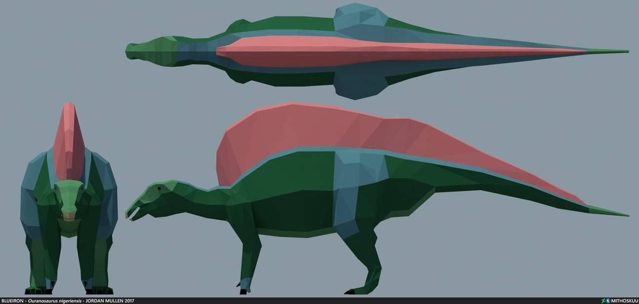 Ouranosaurus nigeriensis low poly by MithosKuu