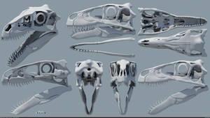Utahraptor ostrommaysorum skull v2 by MithosKuu