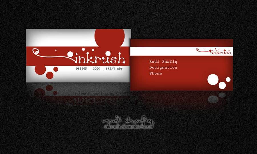 Business Card Sample Red By Inkrush On Deviantart