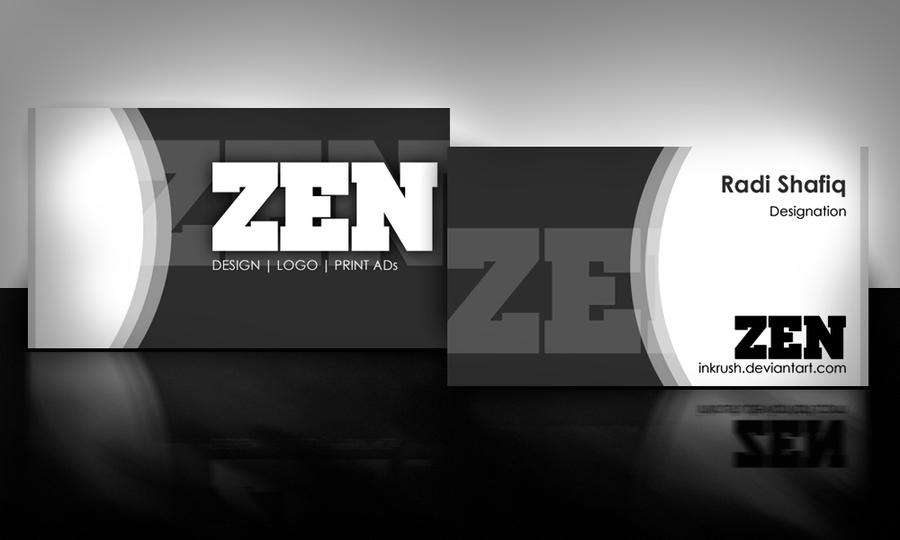 zen business card black by ~inkrush
