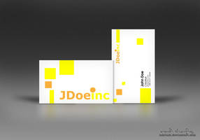 Sample Yellow Business Card by inkrush