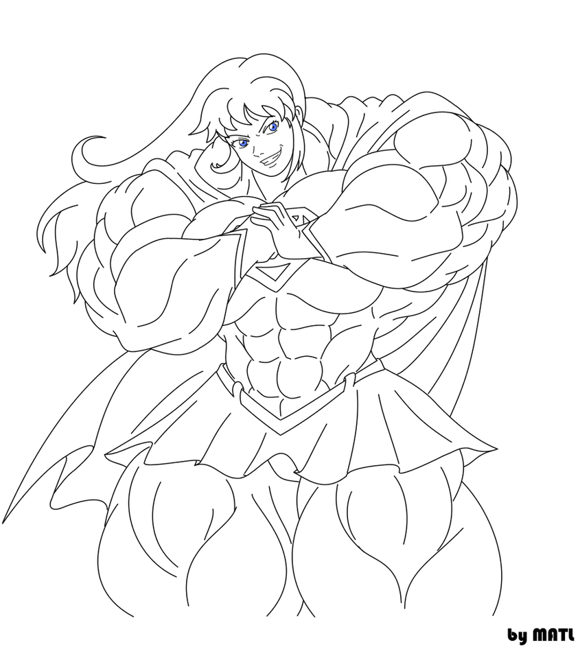 Supergirl ink by matl on deviantart for Supergirl coloring page