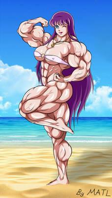 Saori at the beach