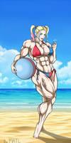 Harley at the beach