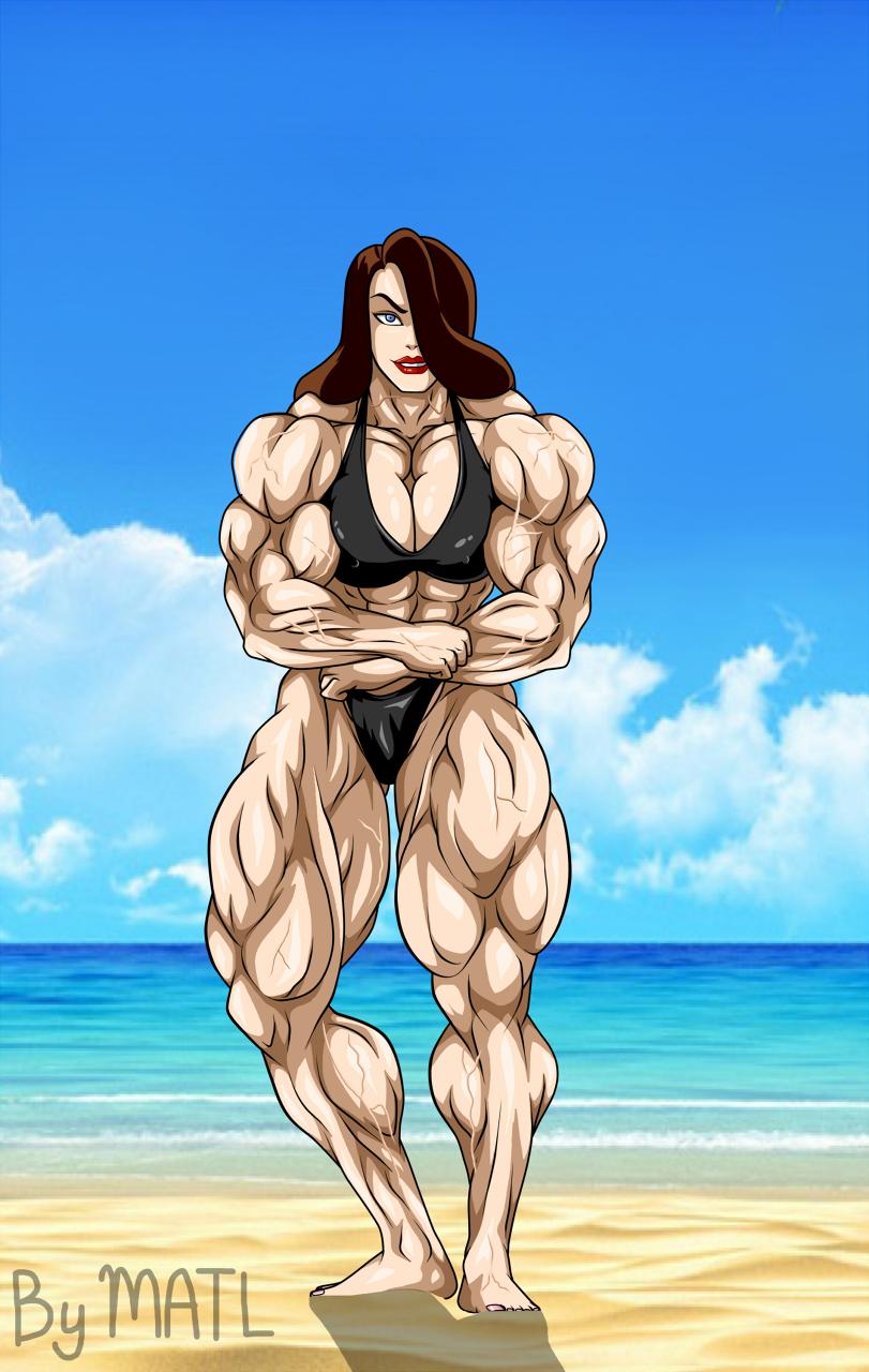 Talia al Ghul at the beach by MATL