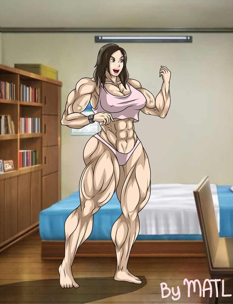 Commission - Katie muscle growth 2 by MATL