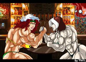 Commission - Rogue (90s) vs Rogue (evolution)