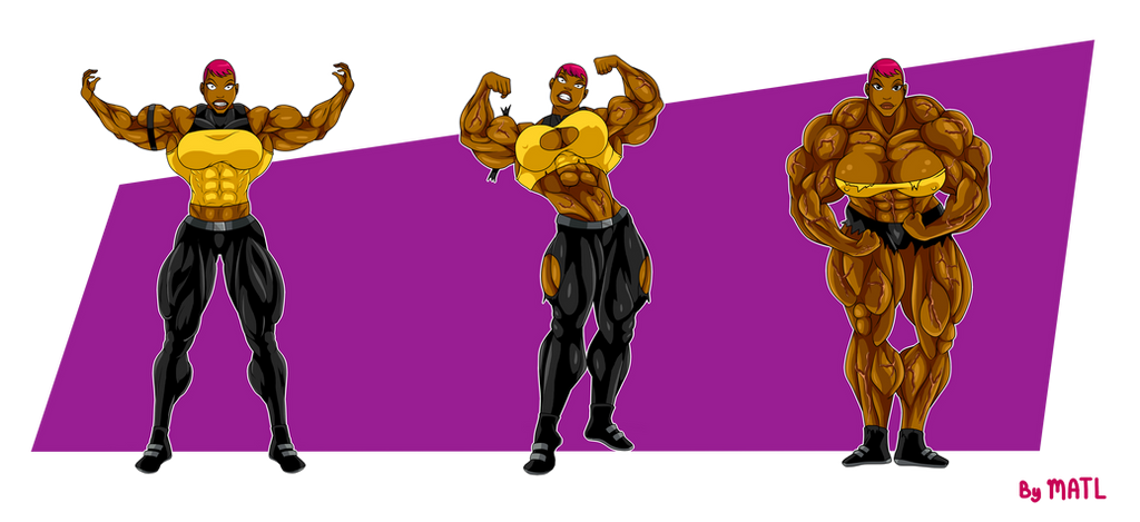 Commission Maxine Gibson Muscle Growth Sequence By Matl On Deviantart