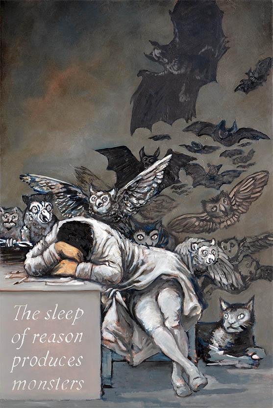sleep reason produces monsters The sleep of reason produces monsters is a song by how to destroy angels from their second release, an omen epthe title comes from an etching by spanish artist francisco goya, el sueño de la razón produce monstruos.