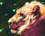 Lion Profile by Everruler