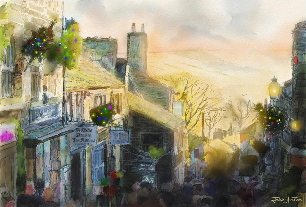 A Haworth Christmas at sunset by spookyjules