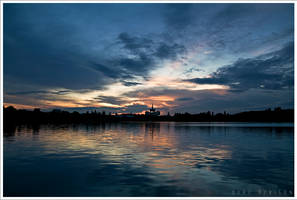 Sunset in Bucharest 1 by doruoprisan