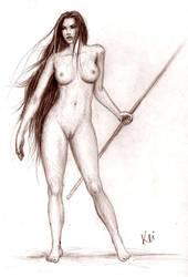 Amazon woman - sketch by Keitaro333